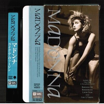 MADONNA Madonna (s/t) JAPAN NTSC VHS 25P8-9015 w/SLIP CASE 1989 issue Free S&H