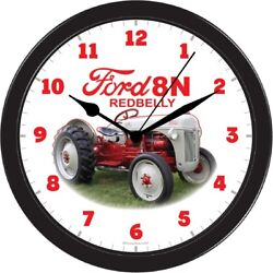 FORD 8N LARGE BLACK 10INCH WALL HANING CLOCK COLLECTABLE LAWN GARDEN TRACTOR