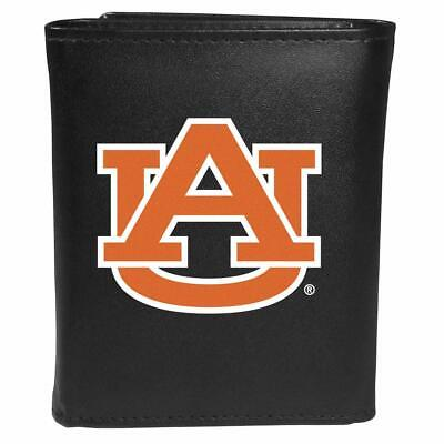 Auburn Tigers Leather Tri-fold Wallet, Large Logo ()