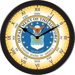 United States Air force Above all Decorative Office Shop Black Wall Clock USA AF