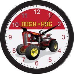 Bush Hog Bush-Hog Wall Clock Collectable Large 10inch Black Sign art AA battery