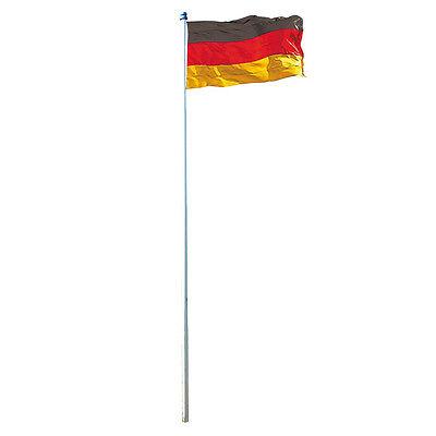 Fahnenmast 4m inkl. Deutschland-Fahne Alu Flaggenmast