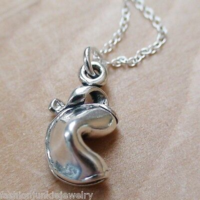 Fortune Cookie Necklace (Fortune Cookie Necklace - 925 Sterling Silver - Fortune Charm Good Luck)