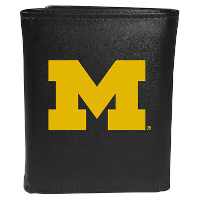 Michigan Wolverines Leather Tri-fold Wallet, Large Logo Large Tri Fold Wallet