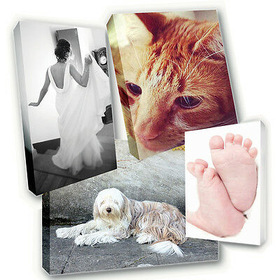 Personalised A4 Canvas Print Printing - Your Photo Image Printed & Box Framed