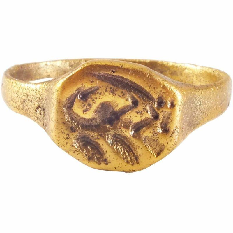 ANCIENT VIKING RUNIC RING C.850-1050 AD SIZE 10