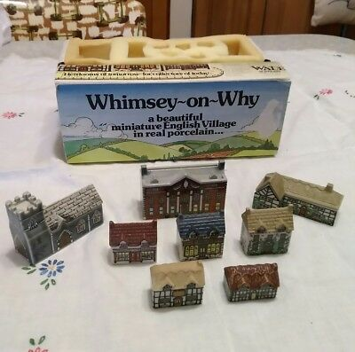 Wade England Whimsey-on-why Porcelain English Village. Set 1. for sale  Grant