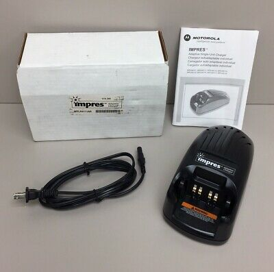 Motorola Impres Wpln4111ar V3.30 Adaptive Battery Charger In Box W Manual