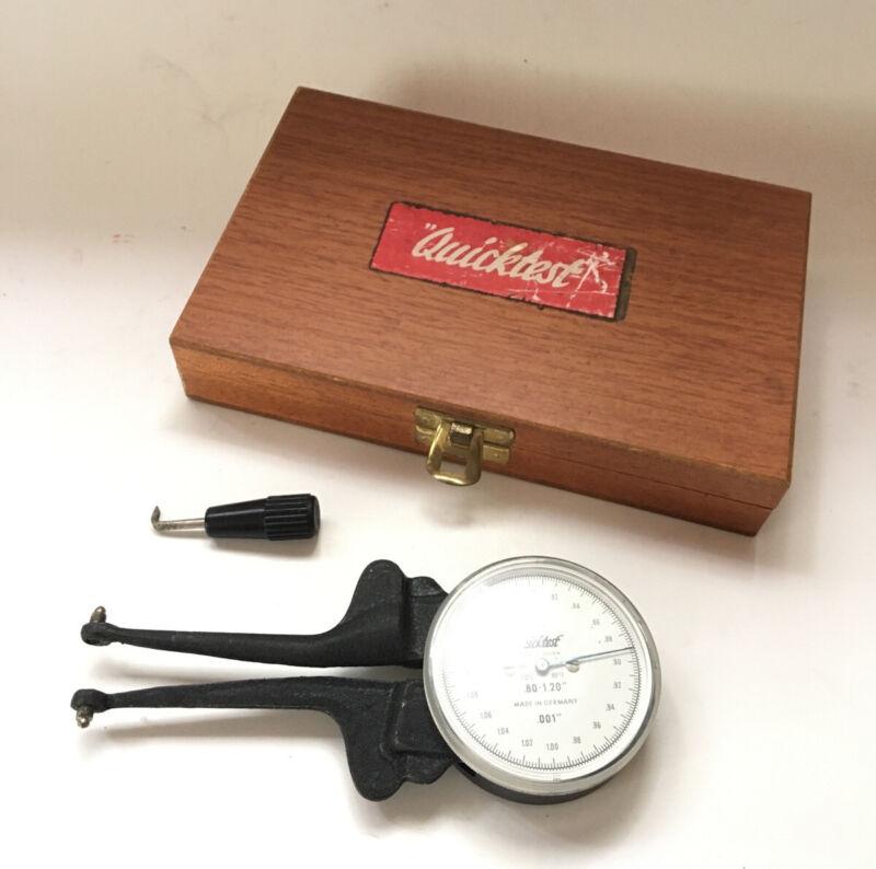 VTG Quicktest Dial Groove Gauge F266K In Original Wood Box .80-1.20