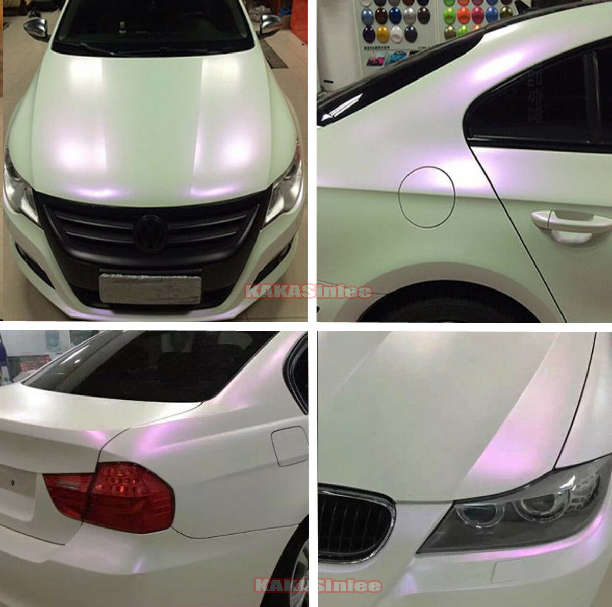 Intero Car Wrap Lucido Opaco Bianco Perla Camaleonte