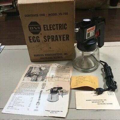 Nos Vintage Burgess Vibrocrafters Inc. Electric Egg Sprayer In Box Model Vs-788