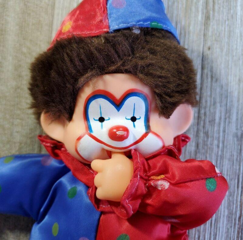 Vintage Corky Clown Rare Thumb Sucker California Toys Doll Plush Red Blue Circus