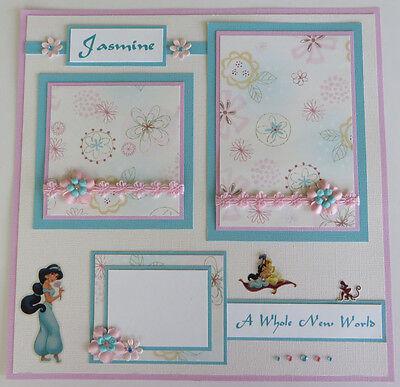 Premade Disney 12x12 Scrapbook Page/Layout - Princess Jasmine (Aladdin)