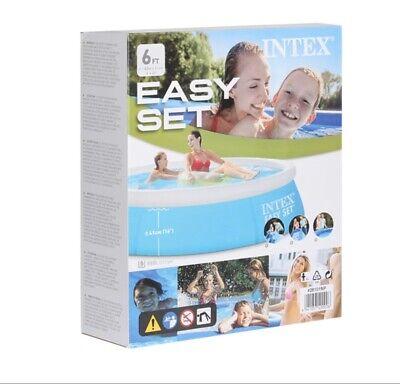 "Intex 6' x 20"" Easy Set Inflatable Swimming Pool - Aqua Blue | 28101EH (54402E)"