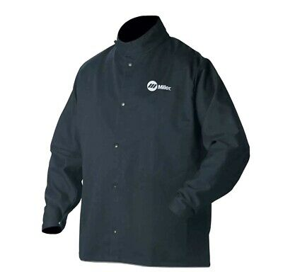 Miller 244749 Classic Cloth Welding Jacket Flame Resistant Size Small