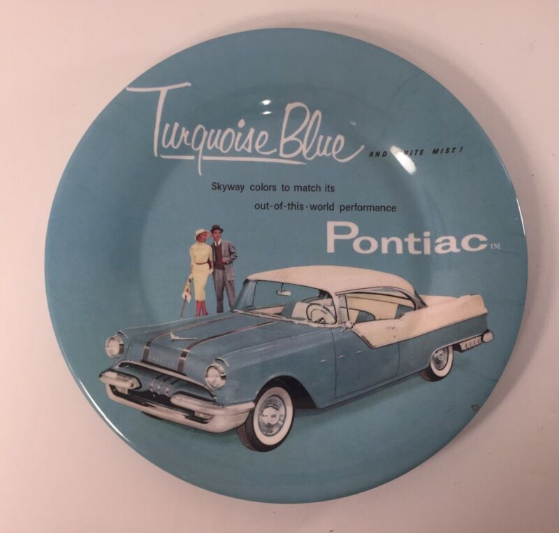 Vintage Evolution General Motors PONTIAC, Turquoise Blue Plate Great Condition