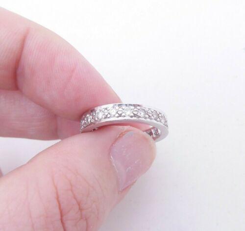 Platinum diamond ring, full eternity