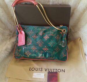 Louis Vuitton Limited Edition TEAL BONBON Shoulder bag pochette richard prince