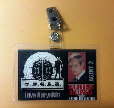 Man From Uncle Id Badge All Access Agent 2 Illya Kuryakin Cosplay Costume Prop
