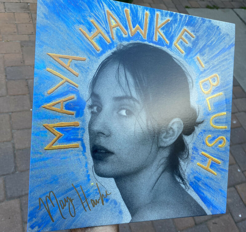 Maya Hawke Signed Album Blush Stranger Things
