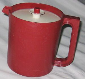 Red 4 Cup Pitcher With Sealed Push Button Lid Ebay
