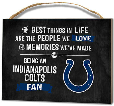 Indianapolis Colts Small Plaque - Best Things [NEW] NFL Sign Wall Wood Decor