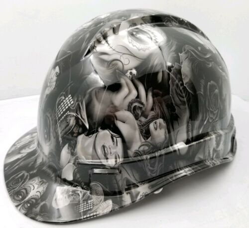 Hard Hat custom hydro dipped , OSHA approved TATTOO BABES NEW SUPER SICK 2