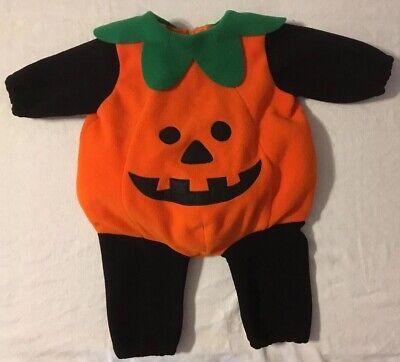 Pumpkin Jack Costume (Miniwear Infant Full Body Plush Pumpkin Jack O Lantern Warm Costume 6-9)