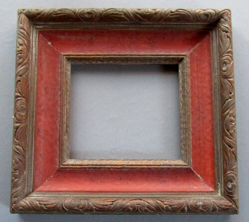 Vintage ITALIAN Carved Wood PAINTING FRAME Painted with Pickled Finish