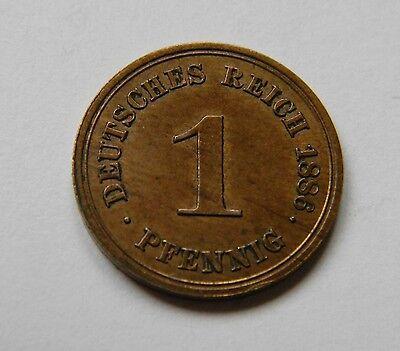 KAISERREICH: 1 Pfennig 1886 A, J. 1, stempelglanz, TOLLES STÜCK !!!