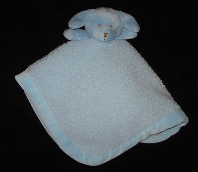 Puppy Dog Security Baby Lovey Blue Sherpa Satin Blankets & Beyond 16x20 inches