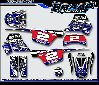 Used, Yamaha PW-50 Braap Graphix Decals Graphics Kit  for sale  Shipping to South Africa