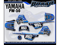 YAMAHA PW 50 PW50  GRAPHICS KIT DECALS DECO Fits Years 1990-2018 Pink