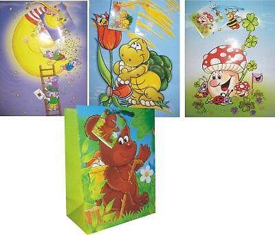 12/ 24/ 48 Geschenktüten medium, Geschenkbeutel für KINDER, 4-fach sortiert Geschenktüten Für Kinder