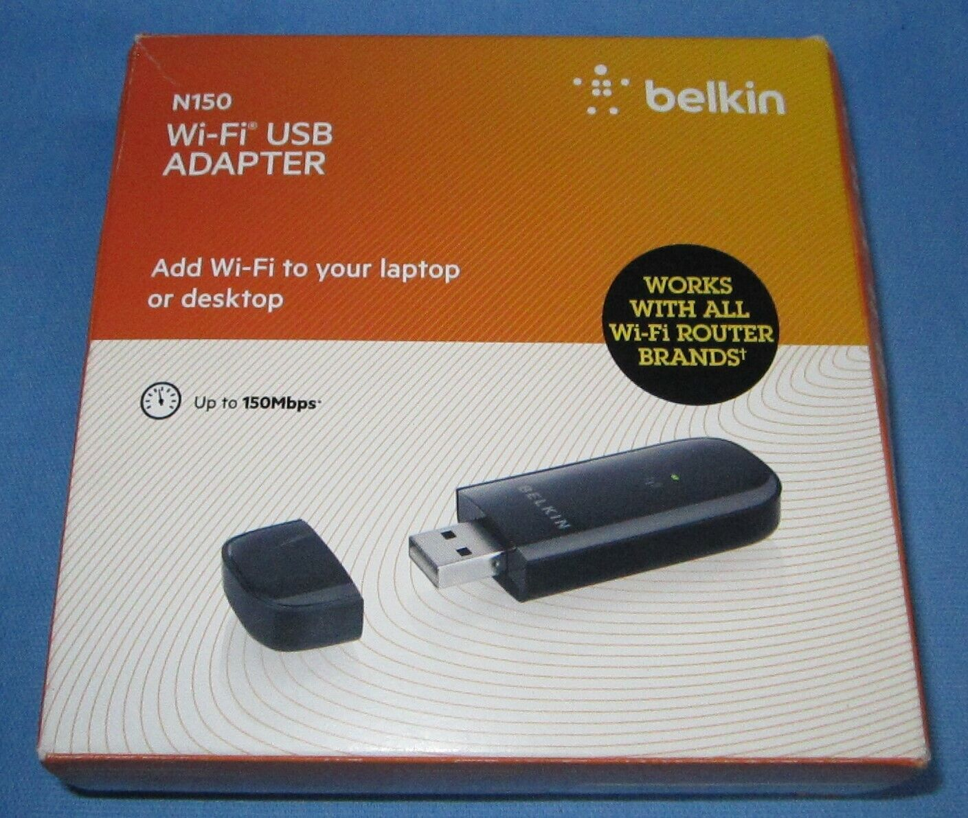 Belkin N150 Wi-Fi USB Adapter ... new in a rough box