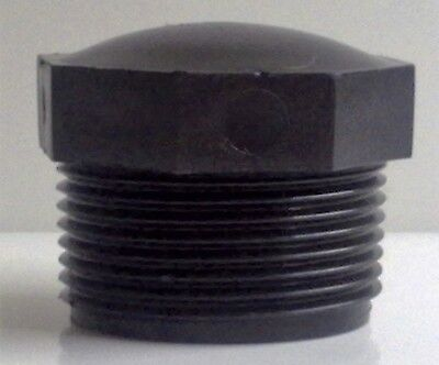"""THREADED END CAP/STOP END - 1.25"""" BSP MALE - PLASTIC (NEW)  ## PACK OF 2 CAPS ##"""
