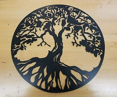 Tree of life metal wall art plasma cut decor gift idea mother's - Mother's Day Art Ideas