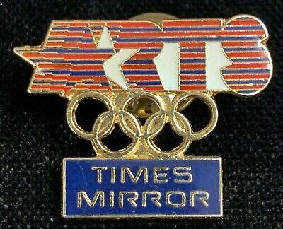 Rare Vintage 1984 Los Angeles Summer Olympics Times Mirror Lapel Pin! WPIN170