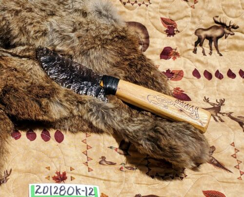 OBSIDIAN KNIFE with WOOD HANDLE