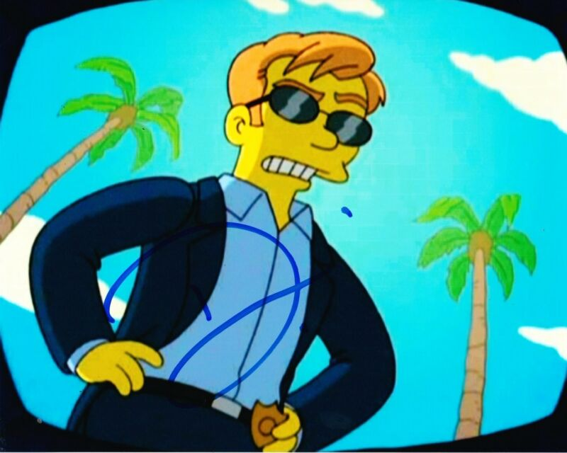 DAVID CARUSO SIGNED 8X10 PHOTO AUTOGRAPH THE SIMPSONS FOX CSI MIAMIA COA B