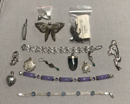 Assorted Silver and Costume Jewelry - 16 pieces