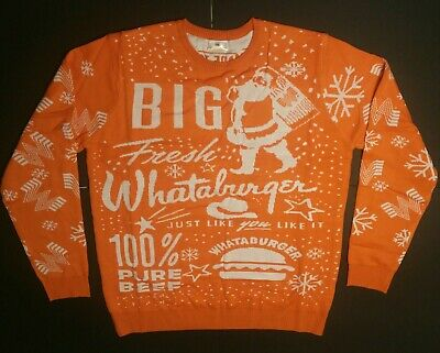 Whataburger Ugly Christmas Sweater 2019,  Size XL.  New in bag. ()