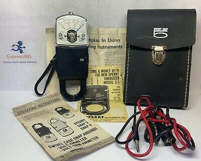 Nx Vintage Aw Sperry Sr-250 With Case Snap 5 Free Us Shipping
