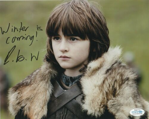 Isaac Hempstead Wright Game of Thrones Autographed Signed 8x10 Photo ACOA MA5