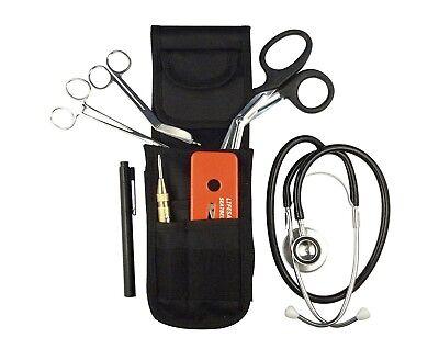 EMT EMS Emergency Response Bandage Scissors Shears Punch Stethoscope Holster Set ()