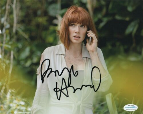 Bryce Dallas Howard Jurassic Wpr;d Autographed Signed 8x10 Photo ACOA #8