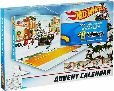 Hot Wheels Christmas Advent Calendar, Vehicles Exclusive FACTORY SEALED New