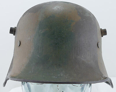 German ORIGINAL WW1 WWI Camouflage M1916 Helmet with Liner