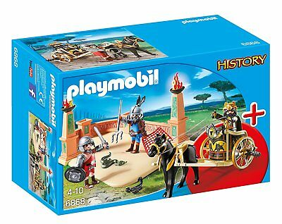 PLAYMOBIL History 6868 Gladiator Arena Ages 4+ New Toy Gift Battle Helmet Horse