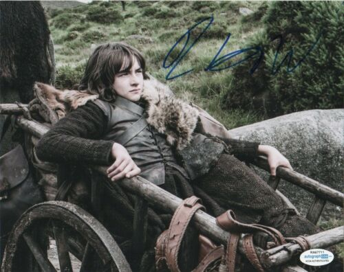 Isaac Hempstead Wright Game of Thrones Autographed Signed 8x10 Photo ACOA MA4
